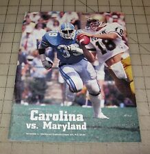 CAROLINA Vs MARYLAND (November 3, 1984) Football Program - Kenan Stadium