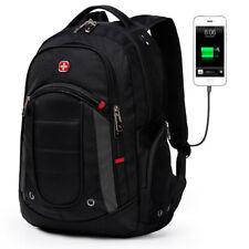 """Swiss Gear Backpack USB Port 15.6"""" Laptop Waterproof Travel Business School Bag"""