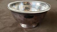 "Antique Gorham EP YC778 Vintage Silver Plated Bowl 5"" Diameter. Plastic liner."