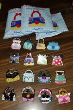 Disney Pins Princess Handbag Purses Complete Set Of 16 Ariel Tiana Belle