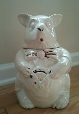 Vintage 1940's McCoy BEAR Cookie Jar Canister  Collectable Pottery Aged