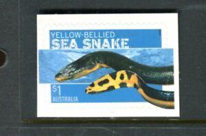 2006 Dangerous Australians - $1 Yellow Sea Snake Booklet Stamp
