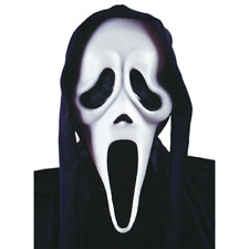 Scream Ghost Face Hooded Mask With Shroud Halloween Horror Scary SFX Costume