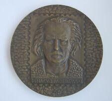PADEREWSKI MIUSIC PIANIST COMPOSER POLISH POLAND MEDAL Prof. Gorol RARE