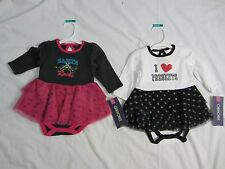 "Girls Lot of 2 One Piece Dresses ""I Love Presents"" & ""Santa Rocks"" - 3 Mth - NWT"