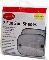 Clippasafe 2 FUN SUN SCREENS Baby/Child/Kids Car Travel Safety Accessory BN