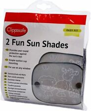 Clippasafe Fun Sun Screens Black and White 2 - Pack