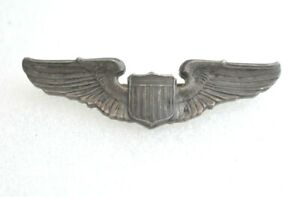 """Vintage WWII USAAF Pilot Army Air Force Military Sterling Silver wings Pin 3"""""""