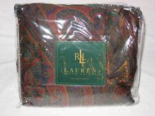 Ralph Lauren GREYCLIFF PAISLEY Cal King Bedskirt NIP Bugundy