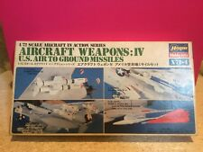 HASEGAWA MAQUETTE AIRCRAFT WEAPONS IV US AIR TO GROUND MISSILES COMPLET 1/72