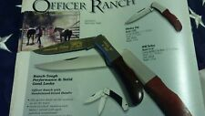 Rare KERSHAW 1990 Officer Ranch 4150 Wild Turkey Snap-on 70yr Anniversary Knife