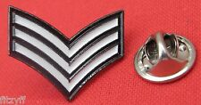 Sergeant Stripes Lapel Hat Tie Pin Badge Army Police RAF Navy MP Souvenir Brooch