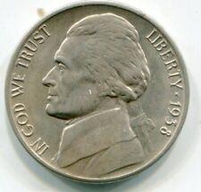 US Jefferson Nickel 1938-D   lotoct7967