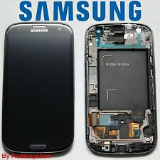 DISPLAY +VETRO NERO ORIGINALE per SAMSUNG GALAXY S3 NEO GT i9301 COVER CORNICE