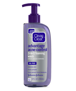 Clean & Clear Advantage Acne Control 3-in-1 Foaming Face Wash 8 oz