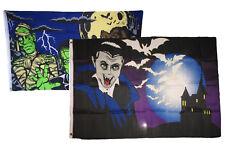 3x5 Happy Halloween 2 Pack Flag Wholesale Set Combo #10 3'x5' Banner Grommets