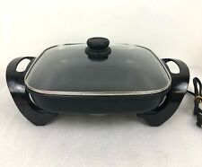 """Telstar Pro 12"""" Non-Stick Black Professional Electric Skillet With Glass Lid"""