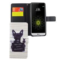 LG G6 Hülle Case Handy Cover Schutz Tasche Flip Schutzhülle Klapptasche Weiß