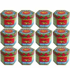 12 x WILD TIGER BALM 18 G JAR/POT  COLOUR - WHITE