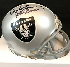 Daryle Lamonica Autographed Oakland Raiders Mini With Mad Bomber Inscription