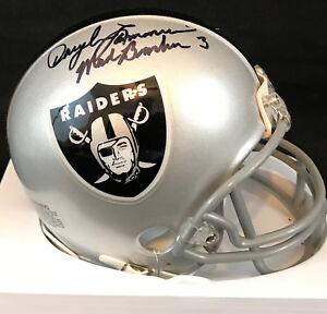 Daryle Lamonica Autographed Oakland Raiders Mini With Mad Bomber Inscription