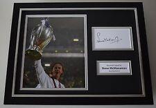 Steve McManaman SIGNED FRAMED Photo Autograph 16x12 display Real Madrid AFTAL