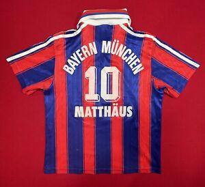 Adidas Bayern Munich Home soccer jersey shirt top Xs Blue Red 10 Matthaus