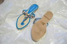 womens colin stuart blue beaded thong sandals shoes size 8 1/2
