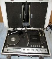Vtg LANTZ SCRP8 Portable/Briefcase AM/FM/Cassette/Turntable-Phonograph As Is J20