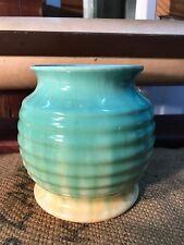 Vintage 1930's Art Deco Ribbed Dripped Glazed Newtone Australian Pottery Vase