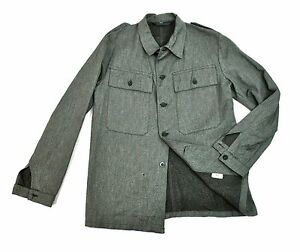 MINT Swiss Military Denim Work Jacket Small Twill Cotton Chore Shirt Switzerland