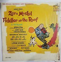Zero Mostel Fiddler On The Roof 1964 Original Cast Recording vinyl