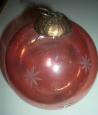Large Vintage Pink Flashed Glass Christmas Decoration