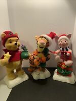 Vintage Telco Motion-ettes Christmas Disney  Animated Plush Piglet,Pooh,Tigger!