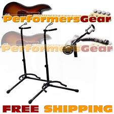 Deluxe Padded Acoustic, Electric, Bass Guitar Stand Adjustable Height 2-PACK NEW