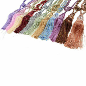 2x Rope Window Curtain Tiebacks Tassel Binding Rope Tie Backs Home Decor 52cm