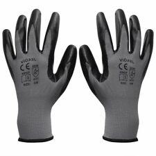 vidaXL 24x Werkhandschoenen Paar Nitrilrubber Grijs en Zwart Handbescherming