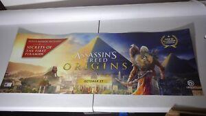 ASSASSINS CREED ORIGINS STORE SIGN PROMO DISPLAY