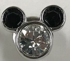 SWAROVSKI CRYSTAL MICKEY MOUSE TIE TAC TACK LAPEL PIN BROOCH MEMBERS ONLY w/ BAG