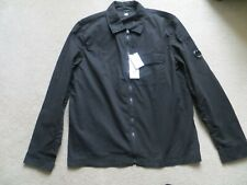 C.P COMPANY BLACK ZIPPED LENS SLEEVE  OVER SHIRT JACKET SIZE L NEW WITH TAGS