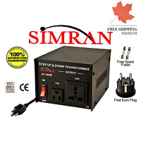 Simran AC-300 Step Up/Down Voltage Converter Transformer 110V/220V - 300 Watts