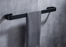 Space Aluminum Black Bathroom Bath Towel Rack Holder Single Towel Bar Rail 50cm