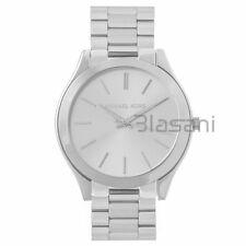 Michael Kors Original MK3178 Women's Slim Runway Silver Tone Stainless Watch