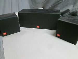 JBL Flix 1 Surround Sound Speakers Center Channel and Two Flix 1 Surround