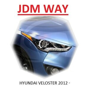 Hyundai Veloster Eyebrows Eyelids Eye Line Headlight Cover 2012-2015 Set 2pcs