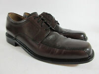 Bostonian Brown Leather Pebbled Bicycle Toe Oxford Dress Shoes Mens Size 10.5 M