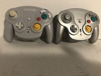 Nintendo GameCube Wavebird Controller Lot of 2 DOL-004 No receivers - READ