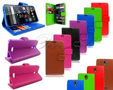 Étuis, housses et coques etuis portefeuilles noir simple pour téléphone mobile et assistant personnel (PDA) Alcatel