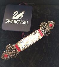 Swarovski Signed Art Deco Bar Pin