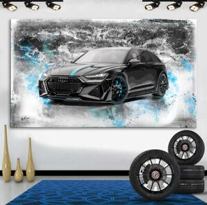 Audi RS6 Autos Sportwagen Abstraktes Bilder Leinwand Wandbild XXXL 3339A